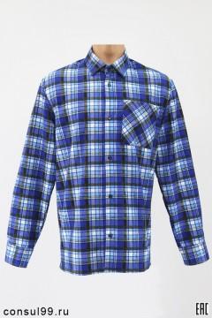 Рубашка мужская фланелевая, длинный рукав, ТУ