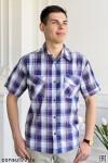 Рубашка мужская короткий рукав, 2 кармана /шотландка/