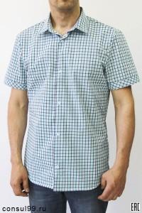"""Рубашка мужская в клетку, короткий рукав, шотландка-премиум, """"Элегант"""""""