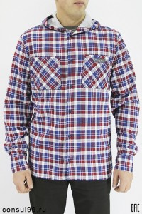 """Рубашка мужская с капюшоном, теплая с начесом """"Мэн"""""""