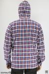"""Рубашка мужская в клетку теплая, с капюшоном """"Мэн"""""""