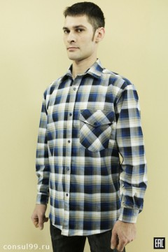 Рубашка мужская 1 карман \фуле\