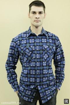 Рубашка мужская длинный рукав, 2 кармана \фланель\