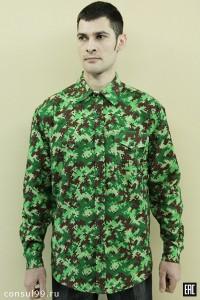 Рубашка мужская длинный рукав, 1 карм /фланель/