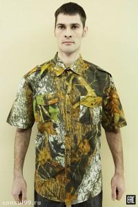 Рубашка охранника ткань-КМФ (лес)