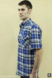 Рубашка мужская короткий рукав, 1 карм /бязь/