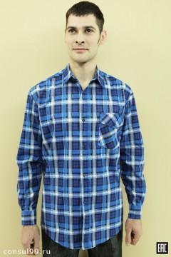 Рубашка мужская, длинный рукав (бязь)